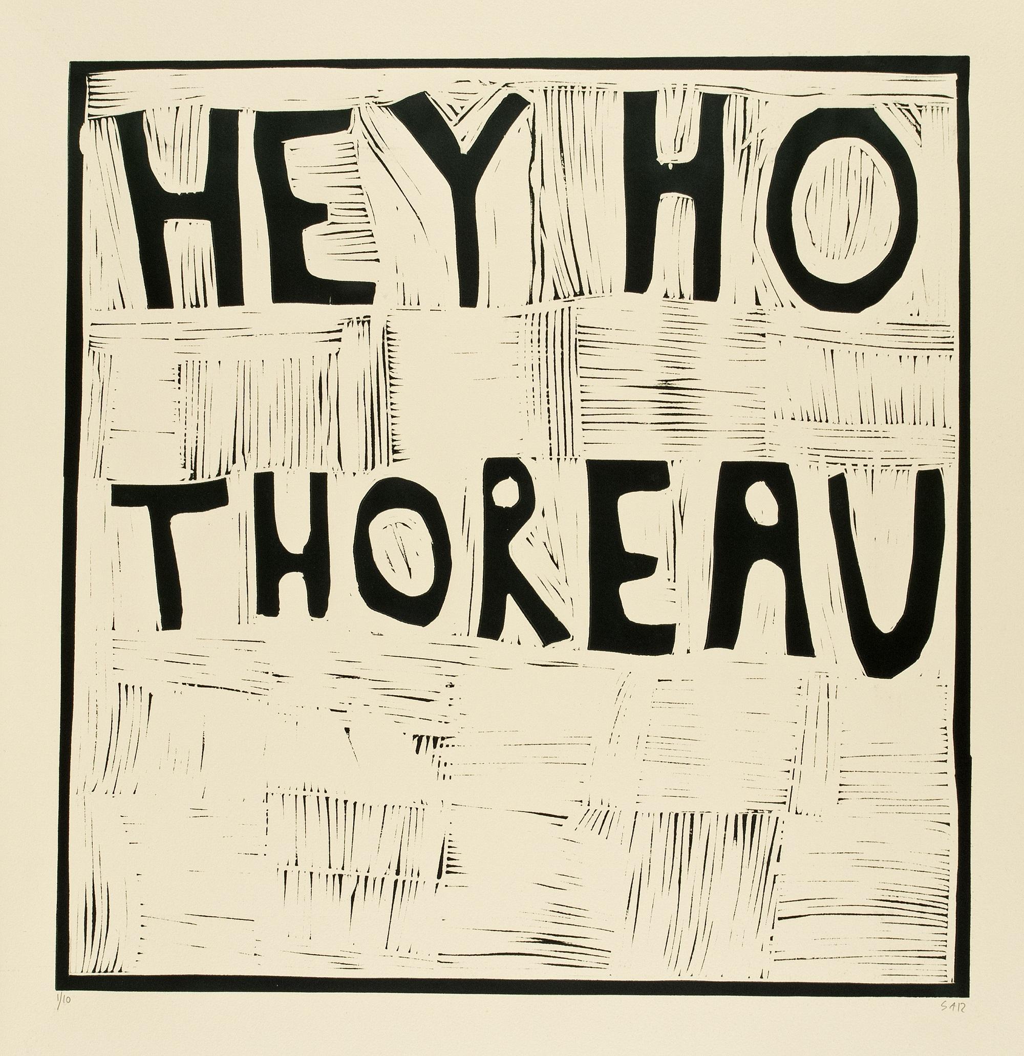 Hey Ho Thoureau, linoleumsnitt, Svend-Allan Sørensen. Foto: Lars Bay.