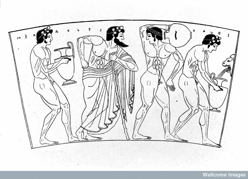 M0005130 greek vase: