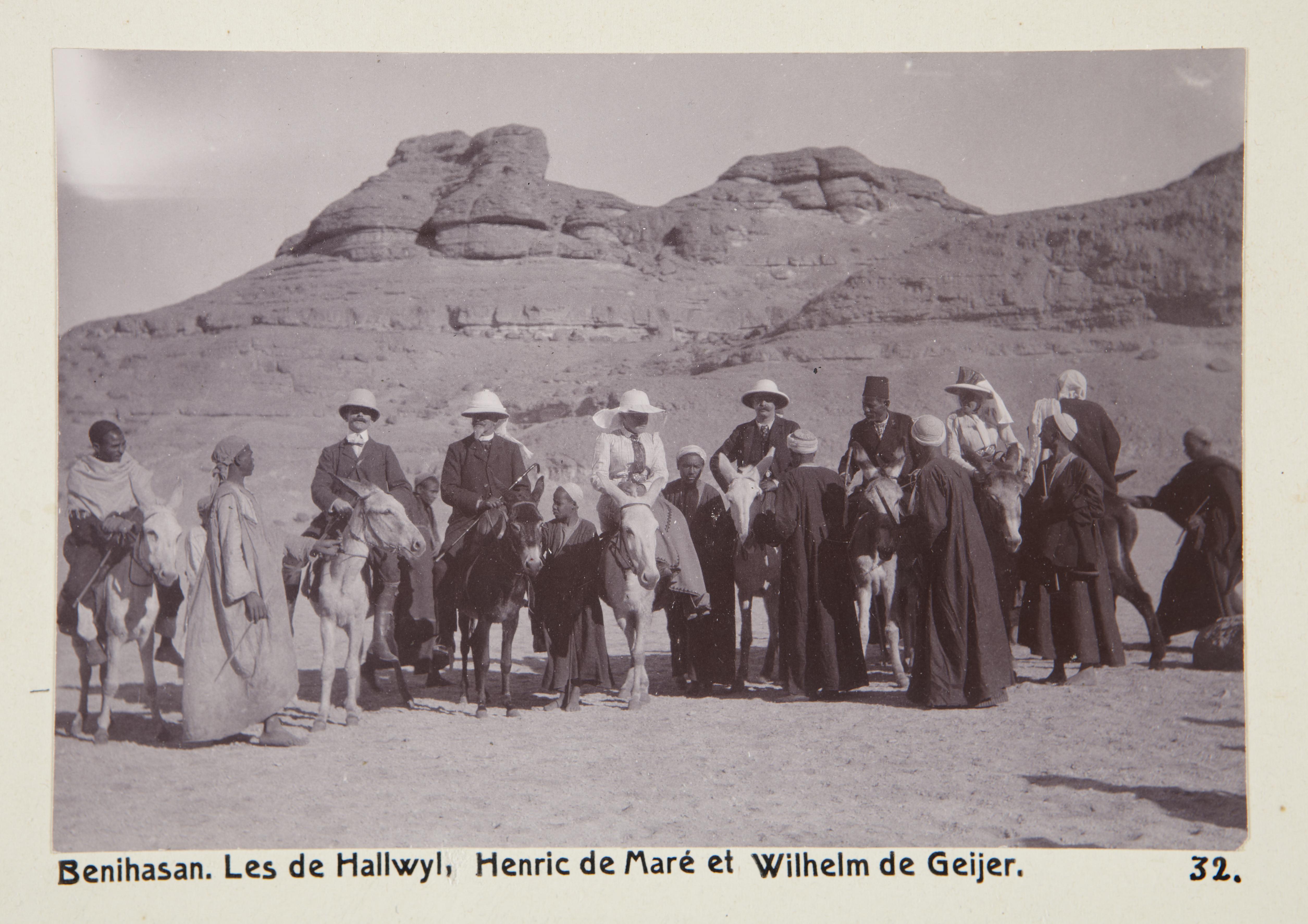 Följ med familjen Hallwyl på tur i Egypten och Sudan, 5 november 1900 – 29 mars 1901 i den nya digitala utställningen. Foto: Hallwylska museet.