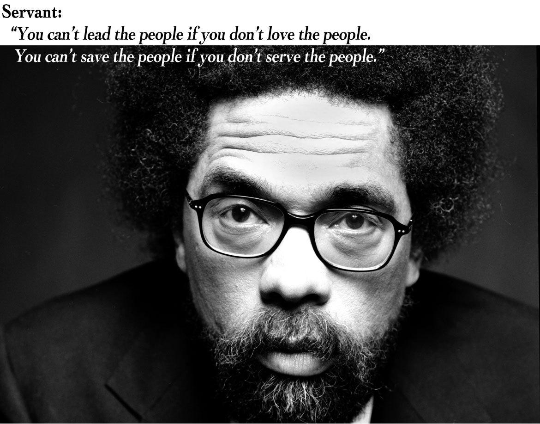 Cornel West, fil.dr i filosofi. Foto: http://www.cornelwest.com/