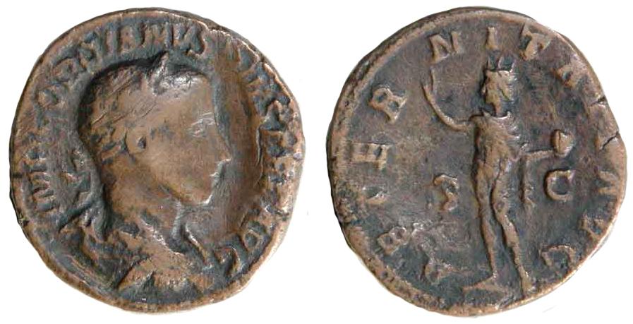 Små ting som det här romerska myntet, daterat 238-244 f.kr, och som finns på British Museum i London kanske blir svårare att studera i efterdyningarna av minskat ekonomiskt stöd. Bildrättigheter: http://creativecommons.org/licenses/by-sa/4.0/
