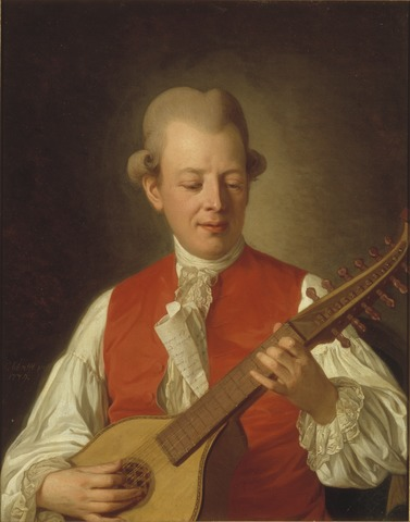 Per Krafft d.ä. Tillskriven: Carl Michael Bellman, 1740-1795.Grh 1061
